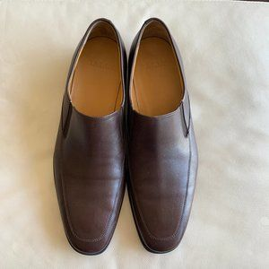 BALLY Men's Brown Calf Leather Slip On Loafers